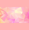 trendy triangular design abstact pink quartz bg vector image