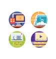 video media icons vector image