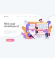 web development landing page template vector image vector image