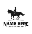 women logo riding a horse vector image vector image