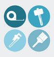 wrench meter hammer paint brush tool icon vector image vector image