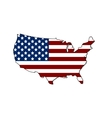 United states map with the flag vector image