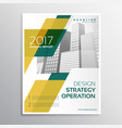 business brochure template design with geometric vector image