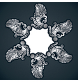 creative classic silver design background with sti vector image