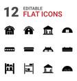 12 barn icons vector image vector image