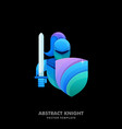 abstract knight colorful template vector image vector image