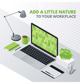 Add a little nature to your workplace vector image