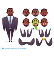 african american character for scenes vector image vector image