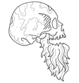 Bearded Skull vector image