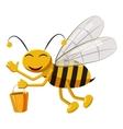 Bee with bucket of honey icon cartoon style vector image vector image