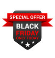 black friday special offer discount and promo vector image vector image