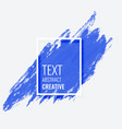 blue abstract brush stroke with text space vector image vector image