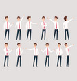businessman pointing managers male workers vector image vector image