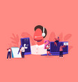 call center technical support customer service vector image vector image