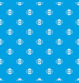 can beer pattern seamless blue vector image vector image