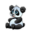 cartoon panda isolated vector image vector image