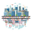 city and industrial landscape ecology concept vector image