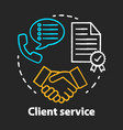 client service chalk concept icon customer vector image vector image