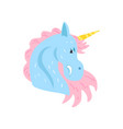 cute unicorn character cartoon vector image vector image