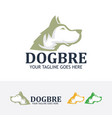 dog company logo design vector image