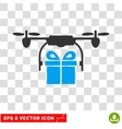 Drone Gift Delivery Eps Icon vector image vector image