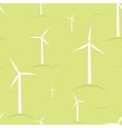 Ecological modern windmills seamless pattern vector image vector image