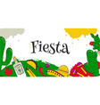 fiesta and latin theme of mexico traditional vector image