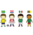 FIFA 2014 Football Players Group A vector image vector image