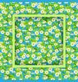 floral seasonal green frame vector image vector image