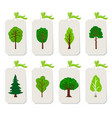 forest tree tags vector image vector image