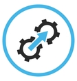 Gear Integration Flat Icon vector image vector image