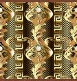 gold baroque 3d seamless pattern vintage antique vector image vector image