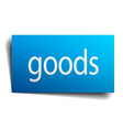 goods blue paper sign on white background vector image vector image