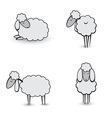 gray sheeps vector image vector image