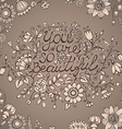 Greeting card you are so beautiful Hand drawn vector image vector image