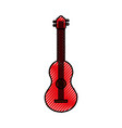 guitar classical instrument music acoustic vector image vector image