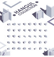 hangul isometric font collection good for vector image