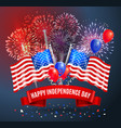 happy independence day festive poster vector image vector image