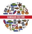 hawaiian culture traveling hawaii country symbols vector image vector image