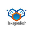 hexagon technology logo concept design symbol vector image vector image