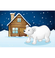 house and polar bear vector image vector image