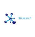 innovation logo chemical or biological vector image vector image