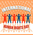 international human rights day concept background vector image