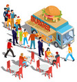 isometric people order and buy vector image
