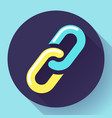 link icon hyperlink chain symbol vector image