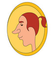 man with big nose on white background vector image vector image