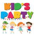 many kids having fun at party vector image