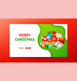 merry christmas landing page vector image vector image