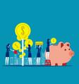 money profit growth business concept business vector image vector image
