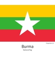 National flag of Burma with correct proportions vector image vector image